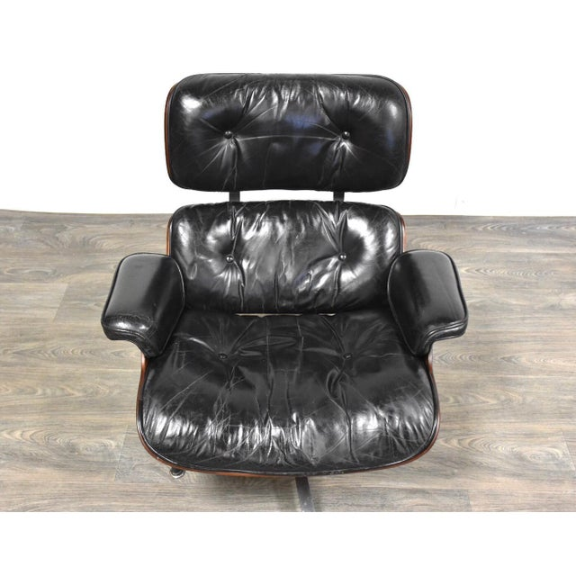 1960s Original Herman Miller Eames Lounge Chair & Ottoman For Sale - Image 5 of 12