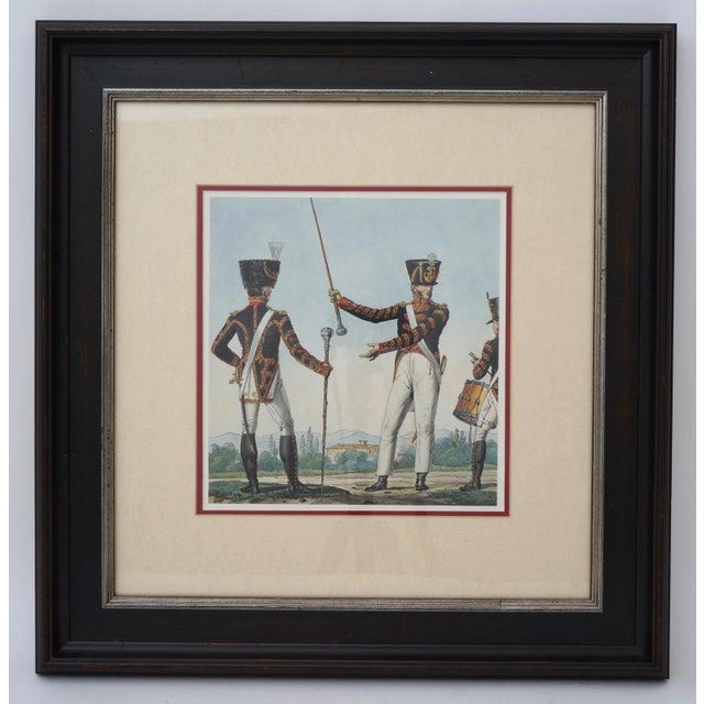 Vintage 1800's Style French Military Prints - a set of 6 - from a Palm Beach collector's estate. Frame size of each - 19...