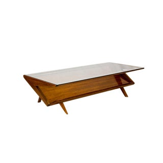 Scandinavian Modern John Keal for Brown Saltman Coffee Table For Sale