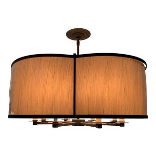Contemporary Currey & Co Linley Shaded Contemporary Chandelier For Sale
