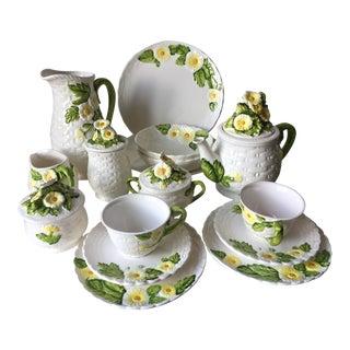 Vintage Daisies & Basket Weave Tea Set-20 Pieces