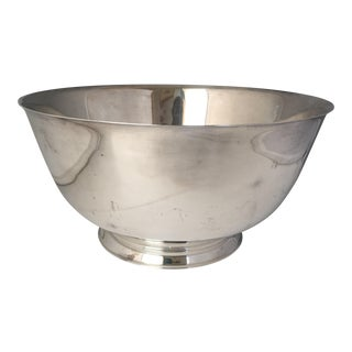 Silver Plate Punch Bowl Centerpiece