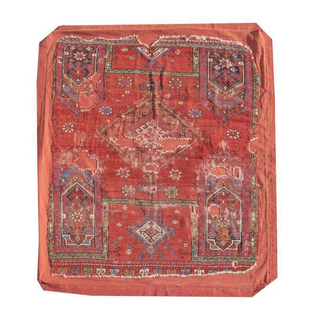 This evocative red-ground piece was woven in the Northwest coastal region of Turkey, most probably in the vicinity of...