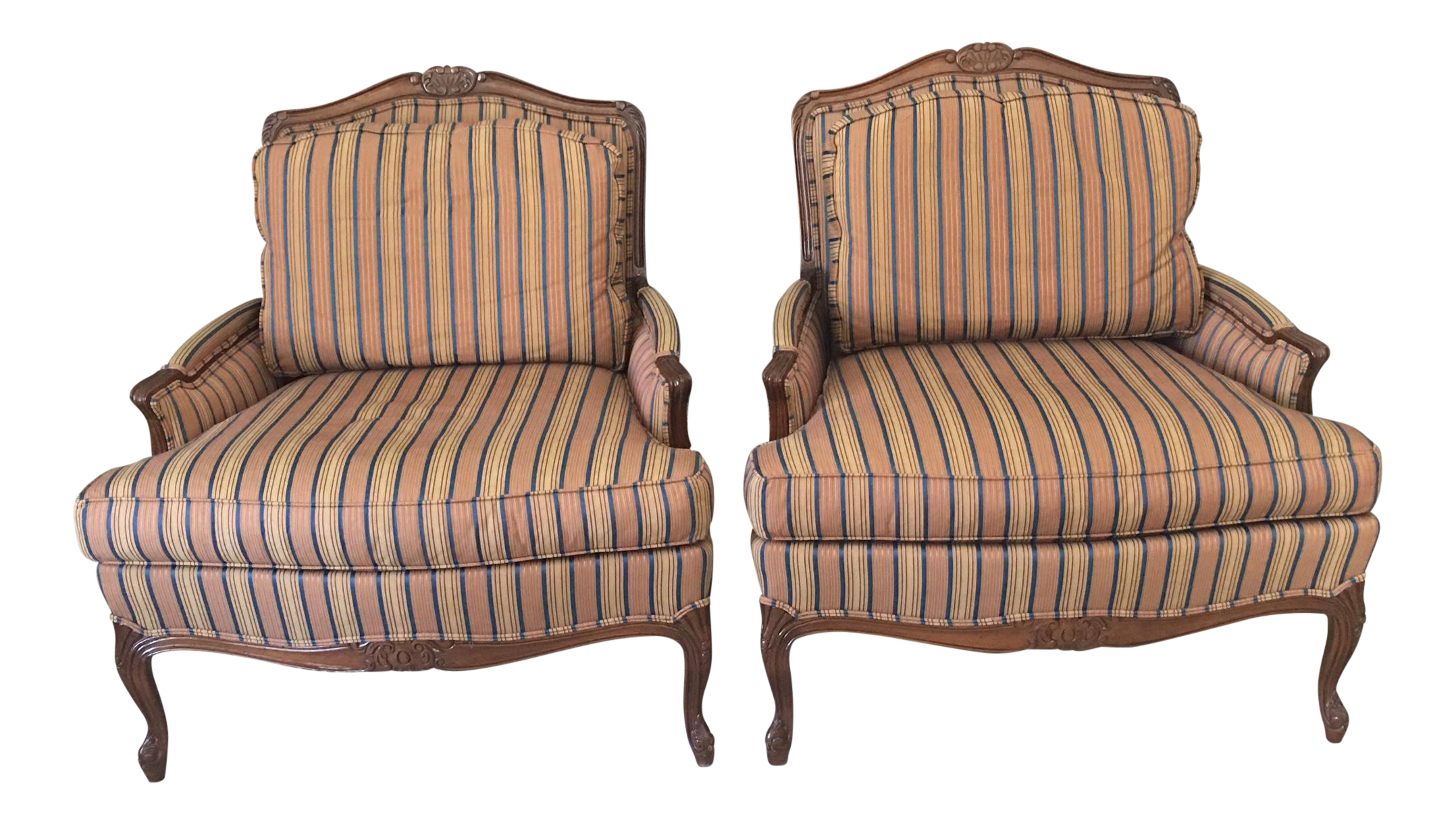 Beau Taylor King Bergere Chairs   A Pair