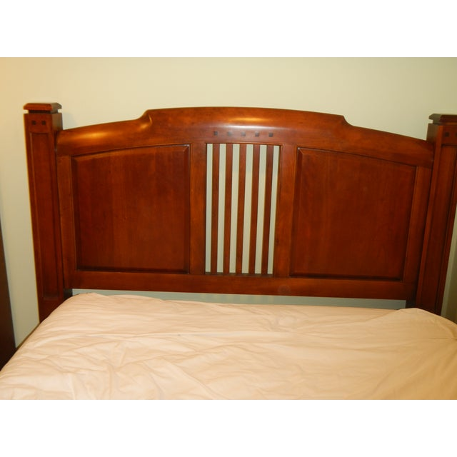 Thomasville Queen Size Cherry Bed - Image 6 of 8