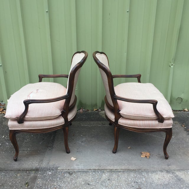 Louis XVI Fauteuil Bergere Chairs - a Pair - Image 3 of 11