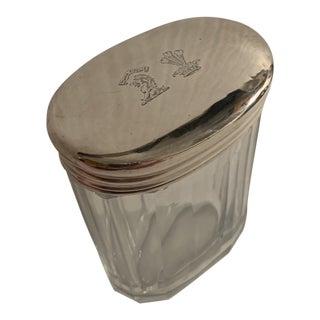 Sterling Lidded Dresser Jar For Sale