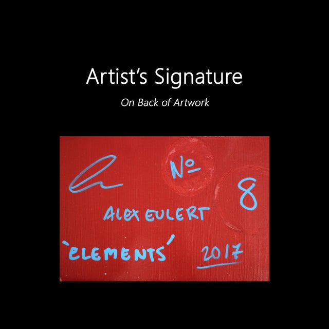 """""""Elements No. 8"""" Original Abstract Mixed Media Painting by Alexander Eulert For Sale - Image 9 of 10"""