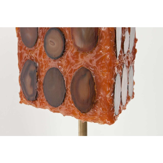French Agate and Resin Table Lamp - Image 11 of 11
