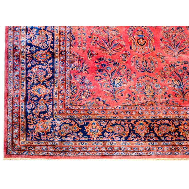 Textile 1920 Persian Kashan Rug For Sale - Image 7 of 9