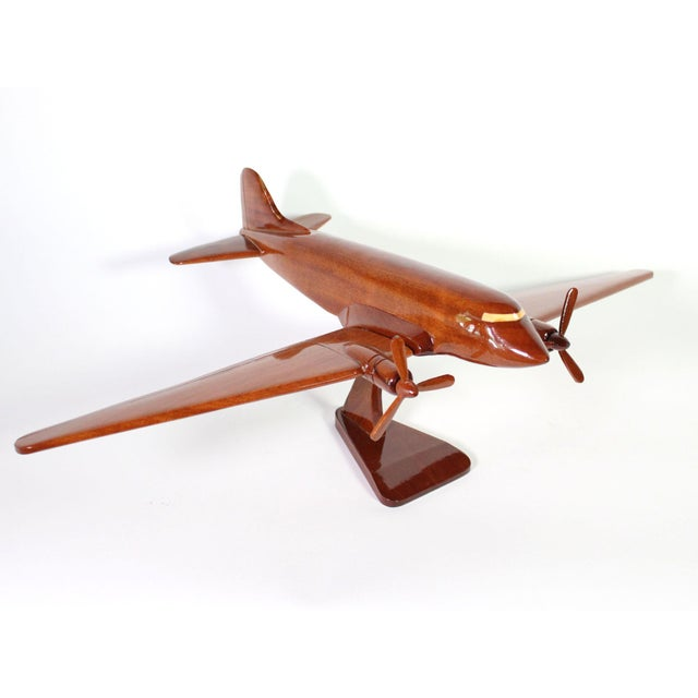 "Mid-Century Modern Mid-Century Solid Wood DC-3 ""Dakota"" Model For Sale - Image 3 of 7"