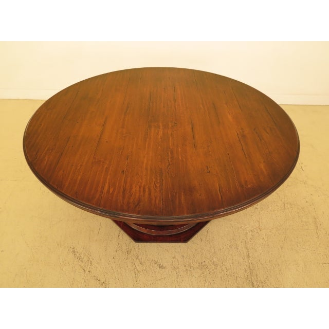 GUY CHADDOCK Round Distressed Finish Dining Room Table Age: Approx: 10 Years Old Details: High Quality Construction Large...