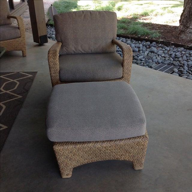 Brown Jordan Brown Jordan Havana Outdoor Lounge Chair & Ottoman For Sale - Image 4 of 10