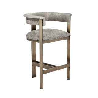Darcy Hide Counter Stool - Bronze For Sale