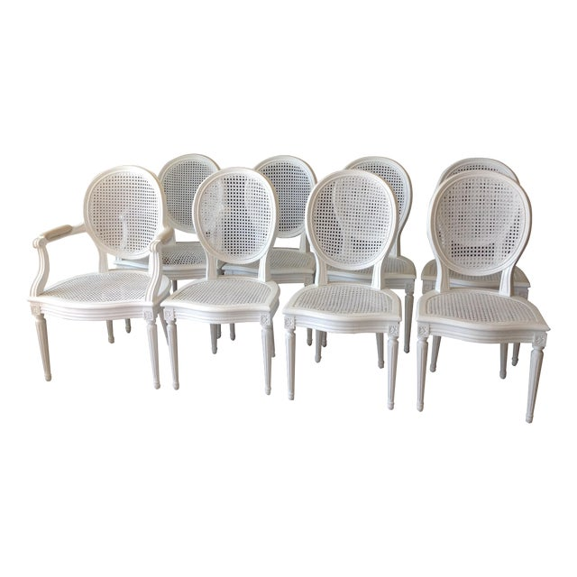 Louis XVI Dining Chairs - Set of 8 - Image 1 of 7