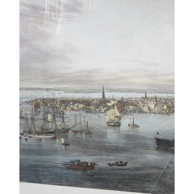 1970s New York Harbor Print by Jw Hill For Sale - Image 5 of 8