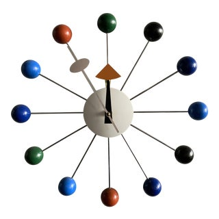 1990s Colorful Memphis Style Wall Clock For Sale