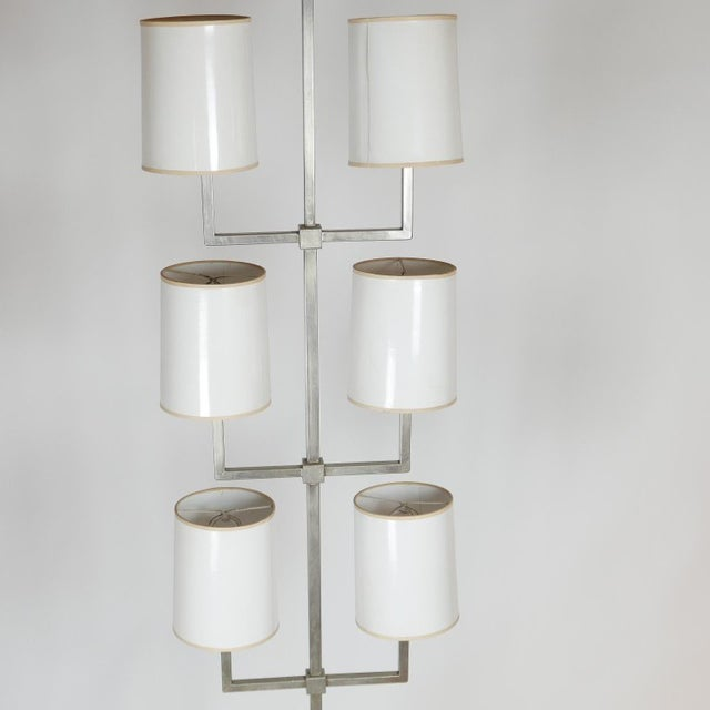 Metal Very Rare Limited Production Tommi Parzinger Floor Lamp for Lightolier For Sale - Image 7 of 12