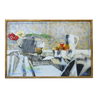 Contemporary Perez Becerra Abstract Table Still Life Oil Painting For Sale