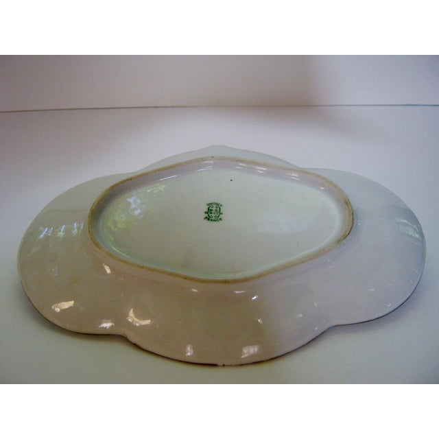 Antique Limoges France Hand Painted Rose Dessert Tray For Sale In Providence - Image 6 of 6