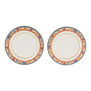 "Villeroy & Boch ""Madeleine Filet Rouge"" Plates - A Pair For Sale"