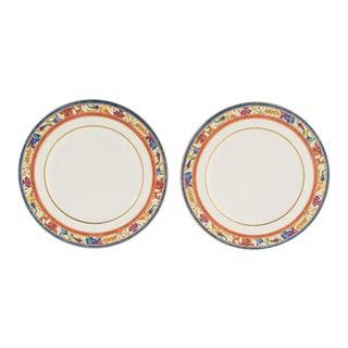 "Villeroy & Boch ""Madeleine Filet Rouge"" Plates - A Pair"