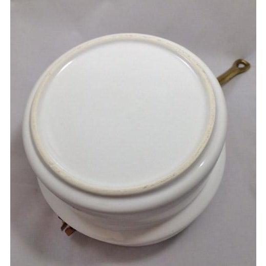 Taurus Vintage Copper, Brass & Porcelain Double Boiler For Sale - Image 5 of 8