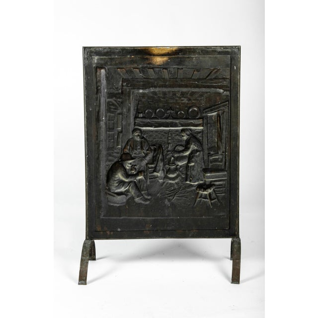 1900s Antique English Brass Fireplace Screen For Sale In New York - Image 6 of 7