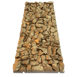 "Suga Lane ""Gilt Optimiso"" Gold Concrete Rock Sculpture For Sale"
