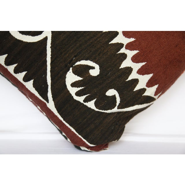 Handwoven Suzani Pillow Cover For Sale - Image 9 of 11