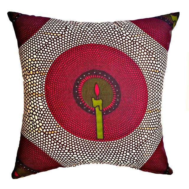Add a global design aesthetic to your space with this beautiful Ankara African print fabric pillow covers. These covers...