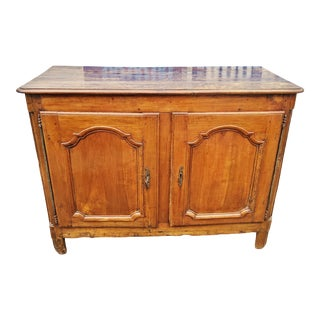 Antique 18th Century French Provincial Carved Walnut Cabinet For Sale