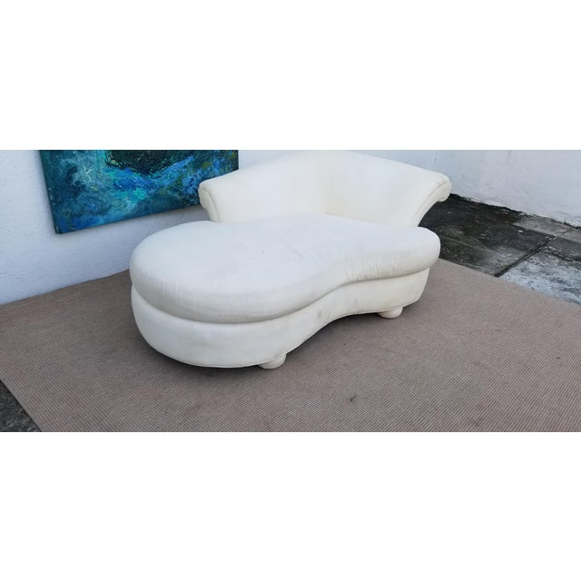 Modern 1980s Vintage Vladimir Kagan for Preview Chaise Lounge For Sale - Image 3 of 10