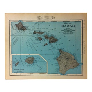 """Antique Atlas of the World Map """"Map of Hawaii"""" -- 1900 For Sale"""