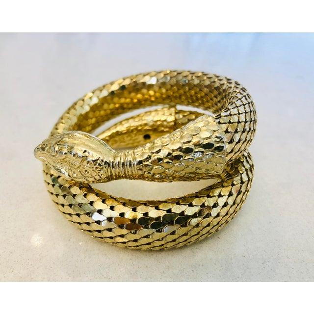 Whiting & Davis Gold Mesh Snake Bracelet For Sale - Image 9 of 9