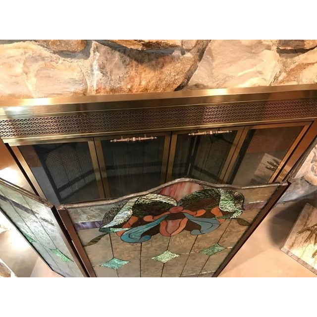 Stained Glass Fire Screen For Sale - Image 9 of 9