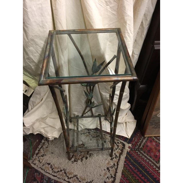 Andy Brinkley copper mirror and console table. Excellent condition. Copper with leaves. Andy Brinkley is a renowned metal...