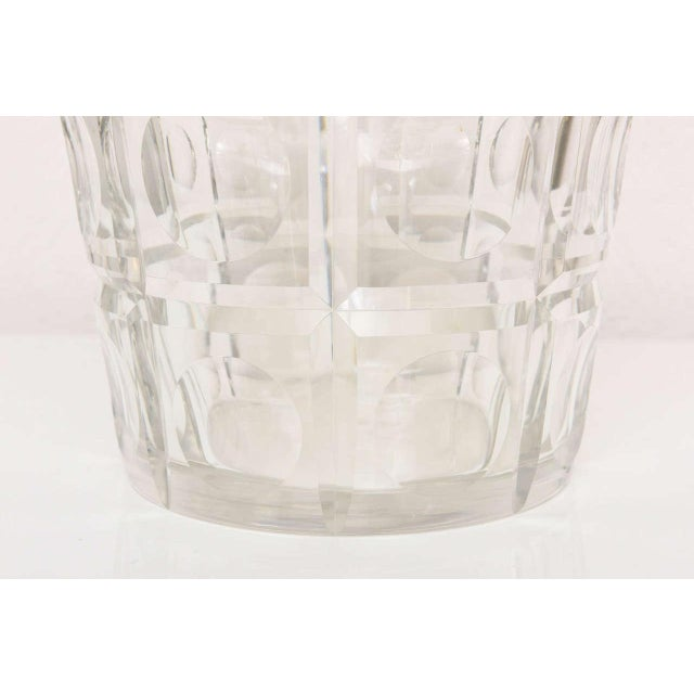Metal Hollywood-Regency Ice-Bucket in Crystal With Brass Accents: American, 1940s For Sale - Image 7 of 11