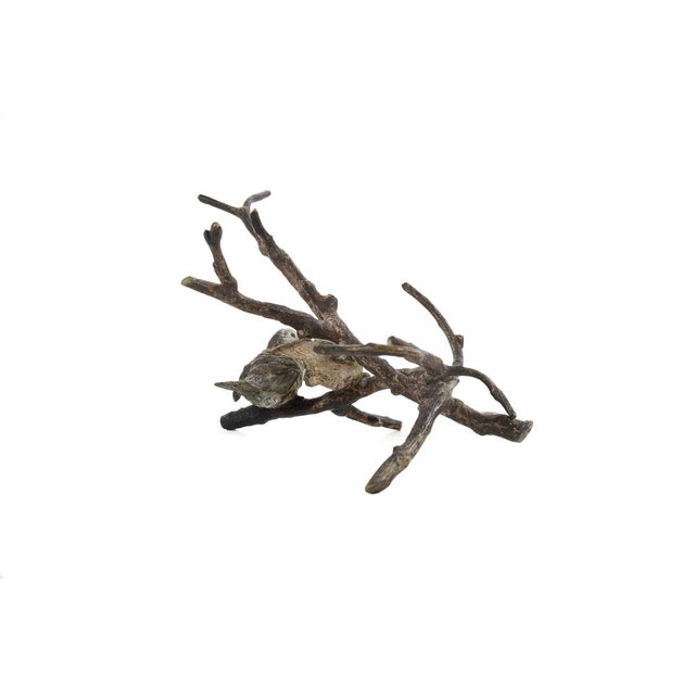 Vienna Antique Painted Bronze Miniature Birds - Image 5 of 9