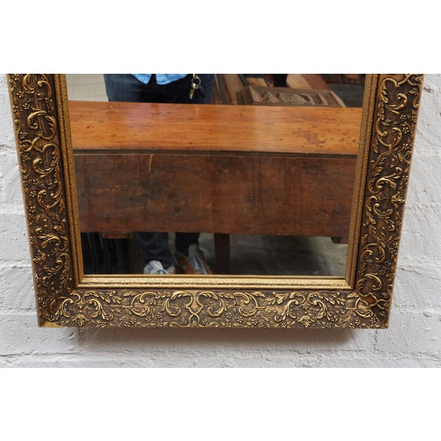 French Long Gilded Mirror c. 1910 For Sale - Image 3 of 4