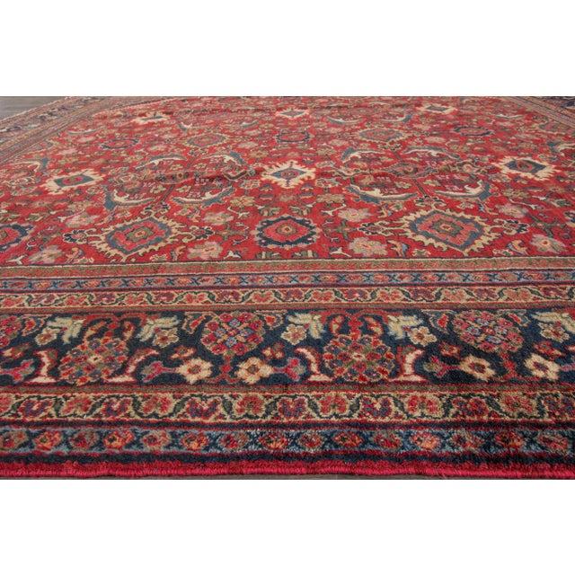 """Apadana - Vintage Mahal Rug, 10'4"""" x 10'7"""" For Sale - Image 4 of 5"""