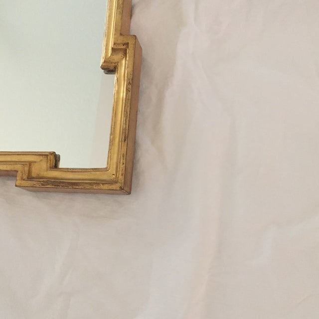 Vintage 1960s Hollywood Regency Mid Century Modern Gilded Mirror W/ Scrolls and Shell Crest, Marked Italy For Sale In Naples, FL - Image 6 of 13