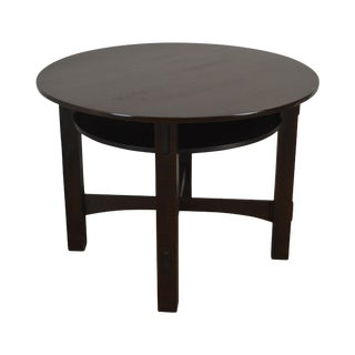 "Mission Oak Antique 40"" Round Games Table For Sale"