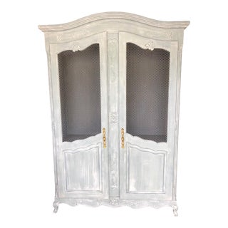 Shabby Chic Country French Armoire For Sale