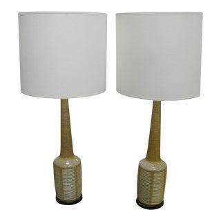 1960s Danish Modern Palshus Ceramic Lamps for Hansen - a Pair For Sale