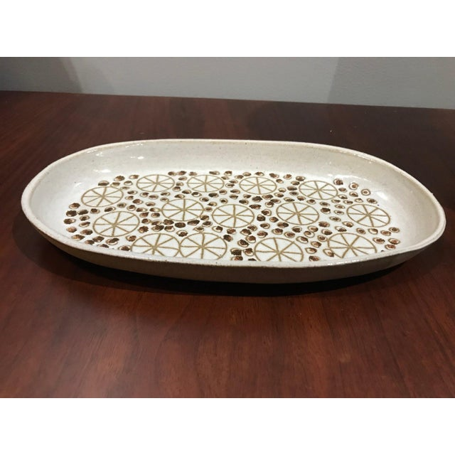 Mid Century Pottery Dish For Sale - Image 4 of 7