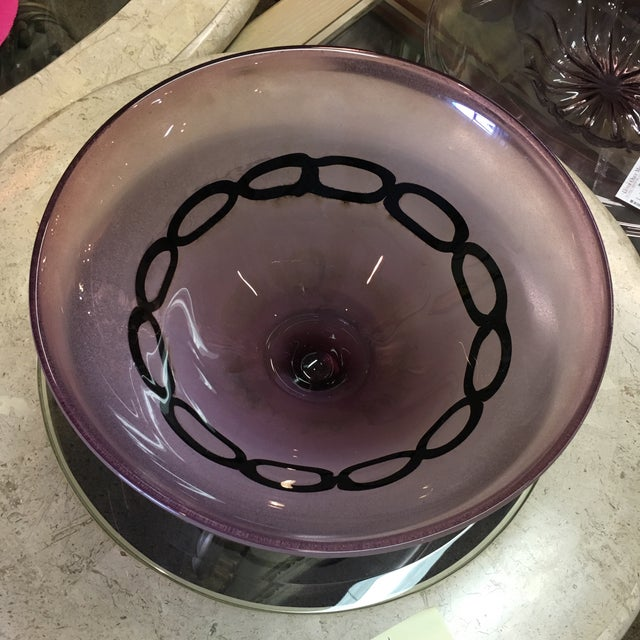 Amethyst Bowl With Metal Stand - Image 2 of 6
