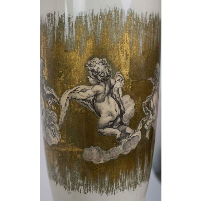 Brass 1940s Fornasetti Style Table Lamp For Sale - Image 7 of 12