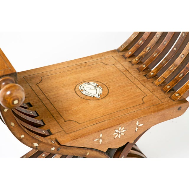 Renaissance 19th Century Savonarola Chairs - a Pair For Sale - Image 3 of 10