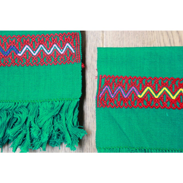 Hand-Woven Chiapas Placemats - Pair For Sale - Image 4 of 7